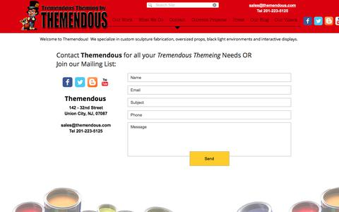 Screenshot of Contact Page themendous.com - Contact Themendous Theming - captured June 17, 2017