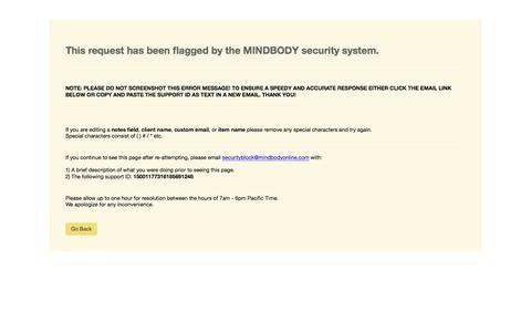 MINDBODY Security