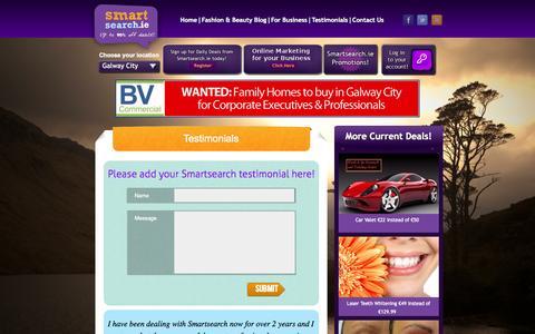 Screenshot of Testimonials Page smartsearch.ie - Testimonial - captured Oct. 26, 2014