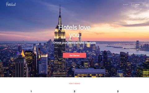 Screenshot of Home Page hotelied.com - Hotelied - captured Feb. 12, 2016