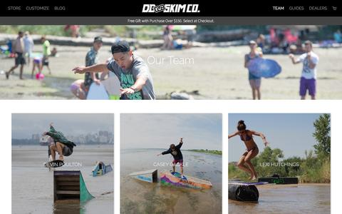 Screenshot of Team Page dbskimboards.com - Our Riders | DB Skimboards - captured Nov. 23, 2016