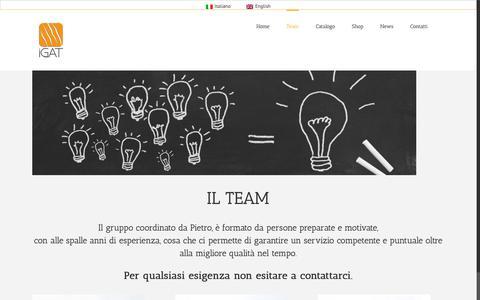 Screenshot of Team Page igat.it - Team - captured Oct. 1, 2018