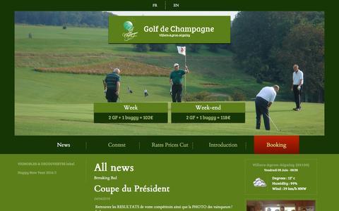 Screenshot of Press Page golf-de-champagne.com - Listing des Actualités   golf-de-champagne.com - captured June 2, 2016