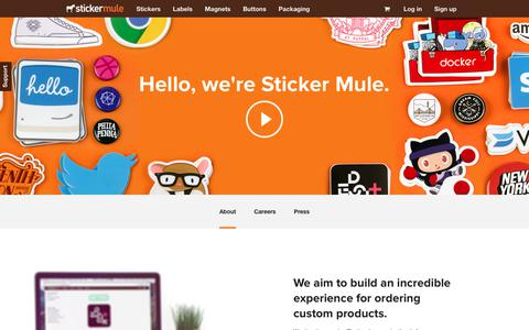 Screenshot of About Page stickermule.com - About - Sticker Mule - captured Dec. 1, 2017
