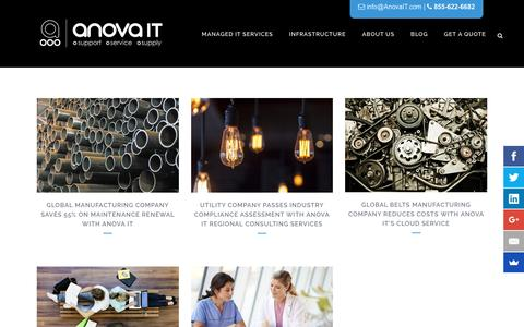 Screenshot of Case Studies Page anovait.com - Anova IT - Our Successes / Case Studies - captured May 30, 2017