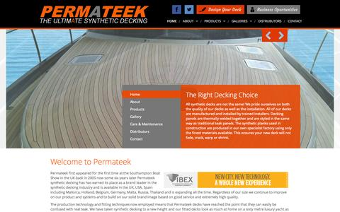 Screenshot of Home Page permateek.com - Permateek Synthetic Decking - captured Sept. 29, 2014