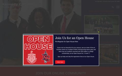 Screenshot of Home Page kennedycatholic.org - Kennedy Catholic, Home of the Gaels – A Catholic School of Excellence located in Westchester, NY - captured Oct. 14, 2018