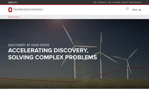 Home | Discovery Themes, The Ohio State University