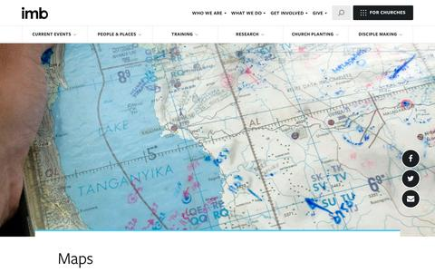 Screenshot of Maps & Directions Page imb.org - Maps - International Mission Board - captured Sept. 15, 2016