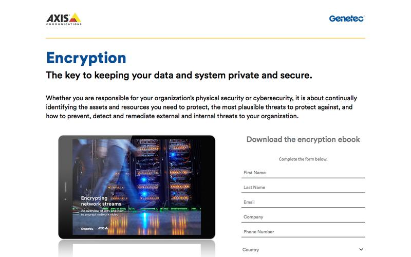 Encrypting network streams | Axis – Genetec