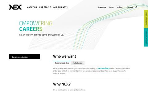 Screenshot of Team Page nex.com - Work for us – NEX - captured July 7, 2018