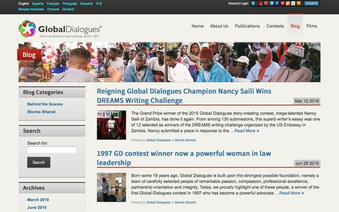 Screenshot of Blog globaldialogues.org - Global Dialogues Blog   Global Dialogues - captured April 10, 2016