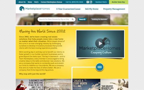 Screenshot of About Page marketplacehomes.com - About Us - captured Oct. 27, 2014