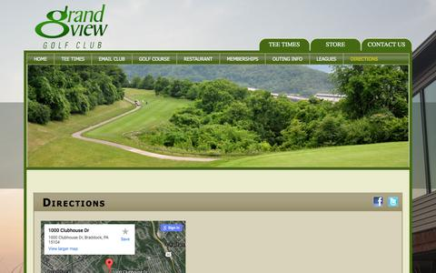Screenshot of Maps & Directions Page pittsburghgolf.com - Directions - captured Feb. 1, 2016