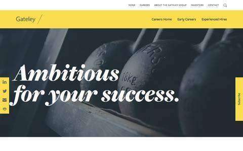 Screenshot of Jobs Page gateleyplc.com - Careers - Gateley - captured July 12, 2019
