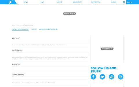 Screenshot of Signup Page screwattack.com - User account   ScrewAttack.com - captured Oct. 30, 2014