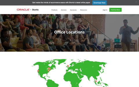 Screenshot of Locations Page bronto.com - Locations | Bronto Software - captured Jan. 5, 2018