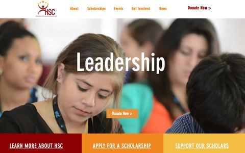 Screenshot of Home Page hispanicscholar.org - Hispanic Scholarship Consortim - captured Dec. 15, 2018