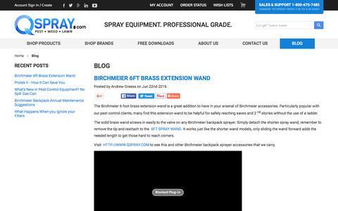 Screenshot of Blog qspray.com - Blog - QSpray.com - captured June 26, 2016