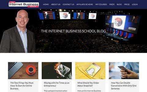 Screenshot of Blog internetbusinessschool.com - Blog | Internet Business School - captured June 8, 2017