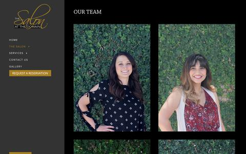 Screenshot of Team Page salonatthedomain.com - Our Team - The Salon at The Domain - captured Oct. 9, 2018