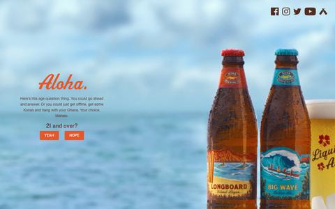 Screenshot of Contact Page konabrewingco.com - Contact Us | Kona Brewing Co. - captured Oct. 16, 2018