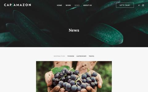 Screenshot of Press Page cap-amazon.com - News – Cap-Amazon - captured Nov. 26, 2019