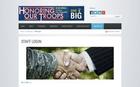 Screenshot of Login Page hrtroops.org - Staff Login - captured Oct. 27, 2014