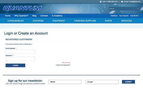 Screenshot of Login Page qtmi.net - Customer Login - captured Sept. 3, 2017
