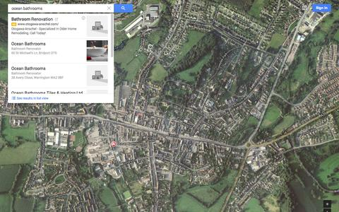Screenshot of Maps & Directions Page google.co.uk - Google Maps - captured Oct. 29, 2014