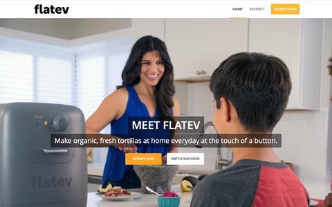 Screenshot of Home Page flatev.com - Home - flatev - captured July 4, 2016