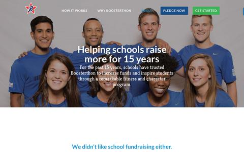 Screenshot of About Page boosterthon.com - Boosterthon Team Reviews - Elementary School Fundraising Tips - captured Oct. 10, 2017