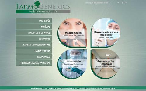 Screenshot of Home Page farmogenerics.com - Home - captured Dec. 9, 2018