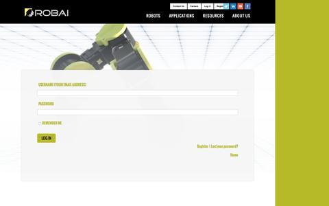 Screenshot of Login Page robai.com - User Login - Robai - captured Aug. 14, 2016