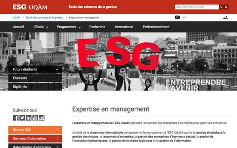 Screenshot of Team Page uqam.ca - Expertise en management | École des sciences de la gestion | UQAM - captured Sept. 11, 2016