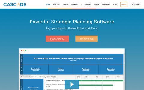 Screenshot of executestrategy.net - Strategy Planning Software | Cascade Strategy - captured Dec. 7, 2017