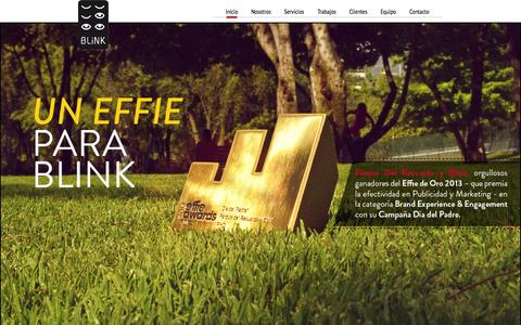 Screenshot of Home Page agenciablink.cl - Agencia Blink - Contenidos que Generan Retorno. - captured Oct. 5, 2014