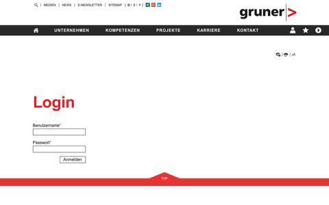 Screenshot of Login Page gruner.ch - Login | Gruner AG - captured Nov. 16, 2016