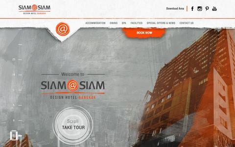 Screenshot of Home Page siamatsiam.com - Siam at Siam Designed Hotel Bangkok, Official web site - captured Aug. 12, 2015
