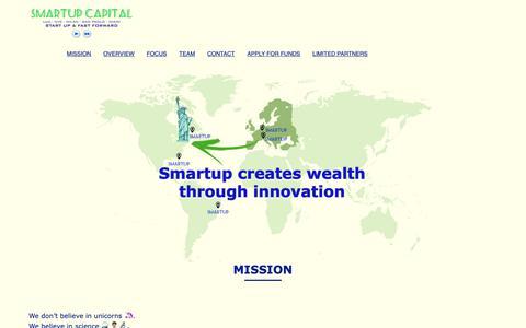 Screenshot of Home Page smartupcapital.com - Smartup Capital | Start Up & Fast forward - captured Nov. 19, 2018