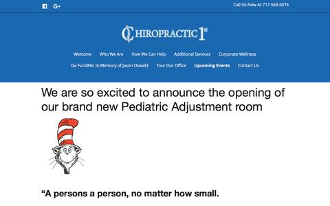 Upcoming Events   Chiropractic 1st