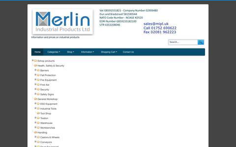 Screenshot of Site Map Page merlin-industrial.co.uk - Sitemap - captured Oct. 18, 2017