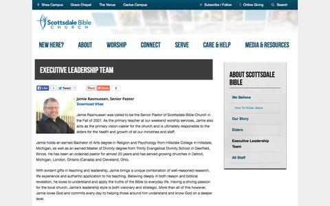 Screenshot of Team Page scottsdalebible.com - Executive Leadership Team | Scottsdale Bible Church - captured Sept. 19, 2014