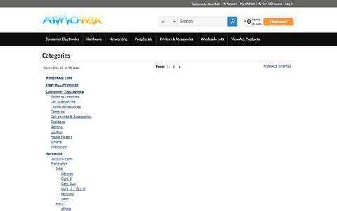 Screenshot of Site Map Page atmotek.com - Site Map - captured Sept. 30, 2014