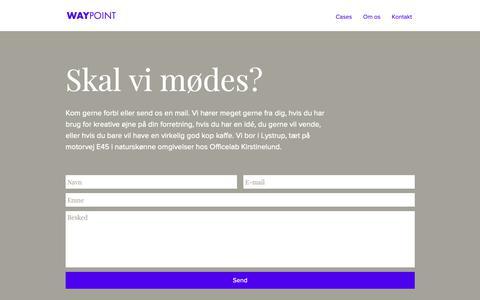 Screenshot of Contact Page waypoint.dk - way-point | Kontakt - captured Oct. 20, 2018