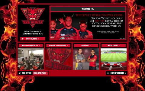 Screenshot of Home Page reds.co.uk - Welcome to Salford Red Devils | The Red Devils RLFC - captured Oct. 3, 2014