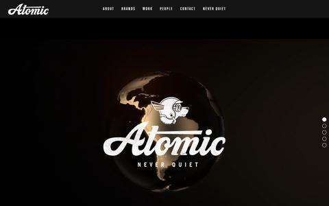 Screenshot of Home Page atomic-london.co.uk - Atomic London - Modern Independent Creative Agency - captured Nov. 10, 2018