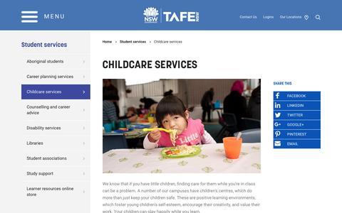 Childcare services - TAFE