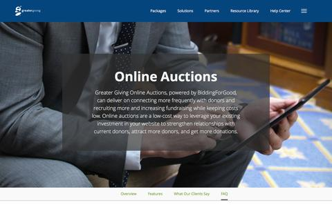 Online Auctions – Product | Greater Giving - Greater Giving