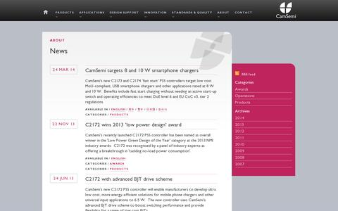 Screenshot of Press Page camsemi.com - CamSemi | News - captured July 18, 2014